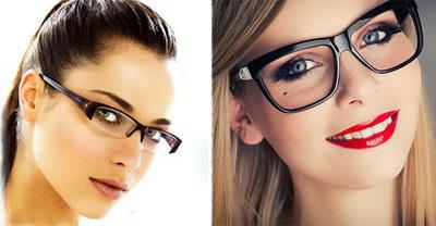 Стильный макияж с очками