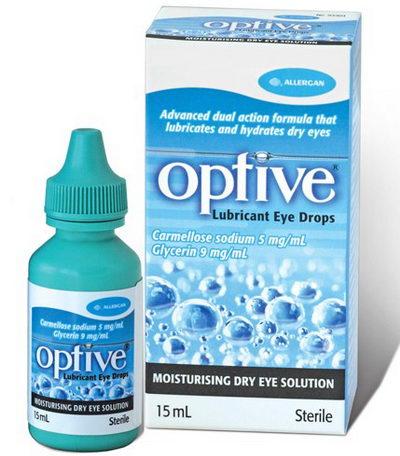 Глазные капли Оптив