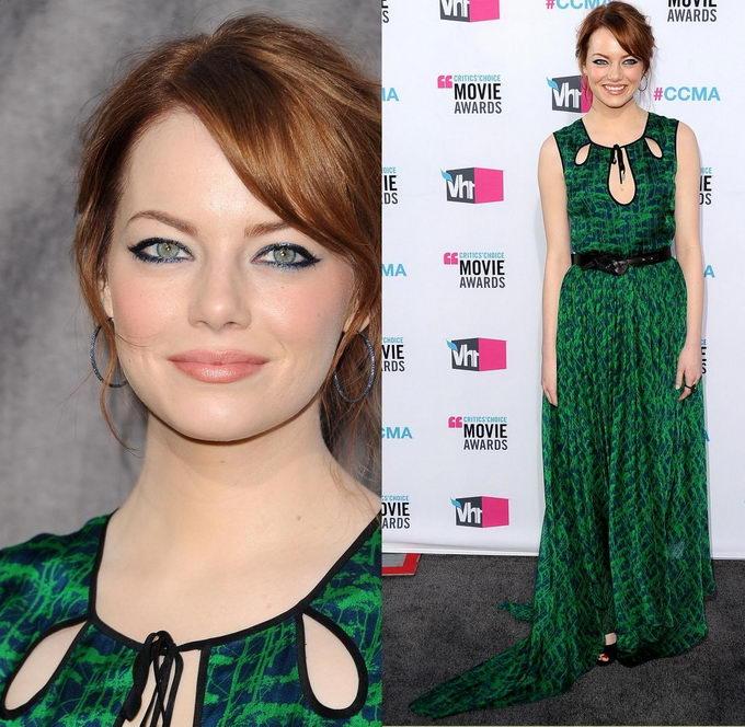 Макияж для зеленых глаз под зеленое платье