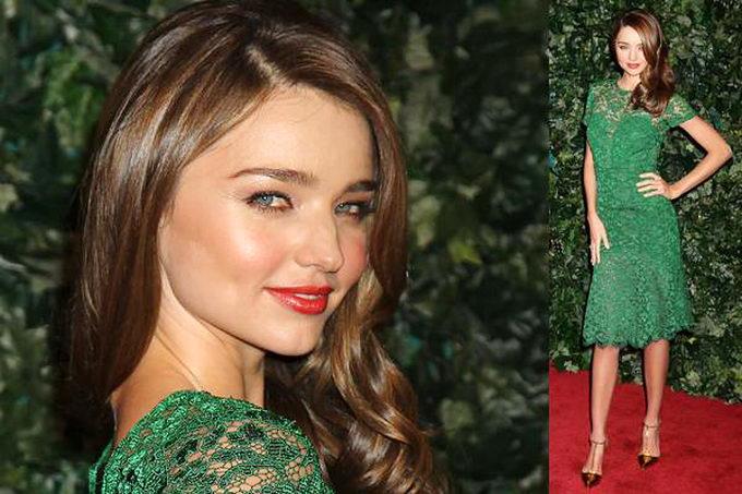 Макияж для синих глаз под зеленое платье