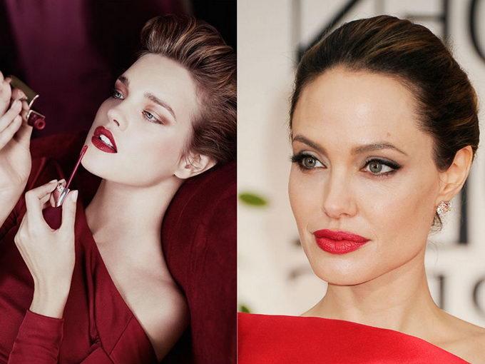 Стильный макияж к красному платью