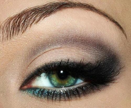 Элегантный вечерний макияж для зеленых глаз