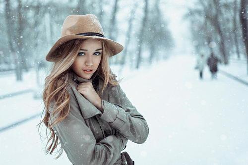Блондинка зимой